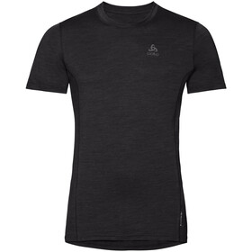 Odlo Merino 130 Top Crew Neck S/S Men, black